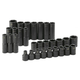 SK Hand Tool 4053 30-Piece 1/2 in. Drive 6-Point Metric Standard/Deep Impact Socket Set
