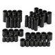 SK Hand Tool 4090 40-Piece 3/8 in. Drive 6-Point SAE/Metric High Visibility Impact Socket Set