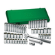 SK Hand Tool 4147 47-Piece 1/2 in. Drive 12-Point SAE/Metric Standard/Deep Socket Set with Pro Ratchet