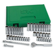 SK Hand Tool 91844 44-Piece 1/4 in. Drive 6-Point SAE/Metric Standard/Deep Socket Set with Pro Ratchet