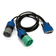 NEXIQ Technologies 402048 1m 6- and 9-Pin Deutsch Y Adapter