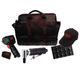 m7 Mighty Seven NC-4611QMA 1/2 in. Drive Mini Impact Wrench and Right Angle Grinder Combo Kit with Metric Socket Set