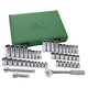 SK Hand Tool 94547 47-Piece 3/8 in. Drive 6-Point SAE/Metric Standard/Deep Socket Set with Pro Ratchet