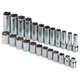 SK Hand Tool 89024 24-Piece 3/8 in. Drive 6 Point Standard/Deep/Extra Long Metric Socket Set