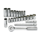 SK Hand Tool 91820 22-Piece 3/8 in. Drive 6 Point Standard/Deep Metric Socket and Ratchet Set