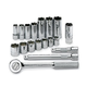 SK Hand Tool 94520 18-Piece 3/8 in. Drive 6 Point Standard/Deep SAE Socket and Ratchet Set