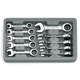 GearWrench 9520 10-Piece 12-Point Metric Stubby Combination Ratcheting Wrench Set