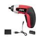 Skil 2354-07 4V Max Cordless Lithium-Ion Palm-Sized Screwdriver and 5-Piece Bit Set