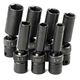 SK Hand Tool 33329 7-Piece 3/8 in. Drive 6 Point Deep Swivel SAE Impact Socket Set