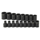 SK Hand Tool 4036 17-Piece 1/2 in. Drive 6 Point Standard Metric Impact Socket Set
