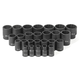 Grey Pneumatic 1726M 26-Piece 1/2 in. Drive 12-Point Metric Standard Impact Socket Set