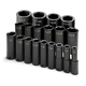 SK Hand Tool 4049 19-Piece 1/2 in. Drive 6-Point SAE Deep Impact Socket Set