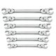 GearWrench 81911 6-Piece Metric Flex Flare Nut Wrench Set
