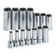 SK Hand Tool 1854 14-Piece 3/8 in. Drive 6 Point Deep Metric Socket Set