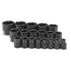 SK Hand Tool 4039 19-Piece 1/2 in. Drive 6-Point SAE Standard Impact Socket Set