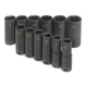 SK Hand Tool 4082 12-Piece 3/8 in. Drive 6-Point Metric Deep Impact Socket Set