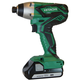 Hitachi WH18DGL 18V 1.3 Ah Li-Ion 1/4 in. Hex Impact Driver Kit