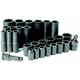 Grey Pneumatic 1328RD 28-Piece 1/2 in. Drive 6-Point SAE Standard and Deep Impact Socket Set