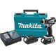 Makita XDT04CW 18V 1.5 Ah Cordless Lithium-Ion 1/4 in. Hex Compact Impact Driver Kit