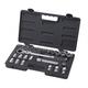 GearWrench 891226 25-Piece 1/2 in. Drive SAE/Metric Pass-Thru Vortex Ratchet Set with Locking Flex GearRatchet Handle