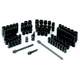 Grey Pneumatic 9771 71-Piece 1/4 in. Drive 6-Point SAE/Metric Standard and Deep Surface Impact Socket Set