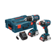 Factory Reconditioned Bosch CLPK233-181L-RT Compact Tough 18V Cordless Lithium-Ion Brushless Drill Driver & Impact Driver Combo Kit