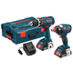 Factory Reconditioned Bosch CLPK250-181L-RT Compact Tough 18V Cordless Lithium-Ion Brushless Hammer Drill & Impact Driver Combo Kit