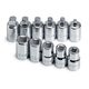 SK Hand Tool 19781 11-Piece 3/8 in. Drive Pipe Plug Socket Set