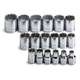 SK Hand Tool 3958 18-Piece 3/8 in. Drive 12 Point Standard Metric Socket Set