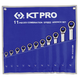 KT PRO A12201SR 11-Piece 12-Point SAE Reversible Combination Speed Wrench Set