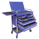 Sunex Tools 8045BL Professional 5-Drawer Service Cart with Locking Top (Blue)