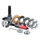 Dynabrade 18257 Autobrade Red DynaZip Wire Wheel Tool Kit