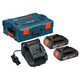 Bosch SKC181-202L 18V 2.0 Ah Lithium-Ion Batteries and Charger with L-Boxx-2 Storage Case