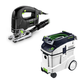 Festool P48561455 Trion D-Handle Jigsaw with CT 48 E 12.7 Gallon HEPA Dust Extractor