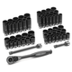 Grey Pneumatic 81259CRD 59-Piece 3/8 in. Drive 12-Point SAE/Metric Standard and Deep Impact Duo-Socket Set