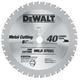 Dewalt DW7763 6-3/4 in. 40 Tooth Ferrous Metal Cutting Circular Saw Blade