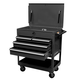 Sunex 8054BK 4-Drawer Service Cart with Locking Top (Black)