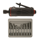 Astro Pneumatic 2181B ONYX 1/4 in. Medium Die Grinder with 8-Piece Double Cut Carbide Rotary Burr Set