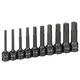 Grey Pneumatic 1340H 10-Piece 1/2 in. Drive SAE 4 in. Extended Length Hex Impact Drive Socket Set