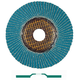 Metabo 624358000-10 7 in. ZA60 Type 27 Zirconia Alumina Flap Discs (25-Pack)