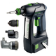 Festool 564558 15V 5.2 Ah Cordless Lithium-Ion Pistol Grip Drill Driver and Attachments Kit