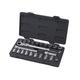 GearWrench 893823 23-Piece 3/8 in. Drive SAE/Metric Pass-Thru Vortex Locking Flex GearRatchet Ratchet Set