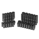 Grey Pneumatic 9748 48-Piece 1/4 in. Drive 6s-Point SAE/Metric Standard and Deep Impact Socket Set
