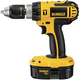 Factory Reconditioned Dewalt DC725K-2R 18V XRP Cordless 1/2 in. Compact Hammer Drill Kit