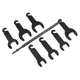 Lisle 43300 7-Piece Pneumatic Fan Clutch Wrench Set