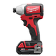Factory Reconditioned Milwaukee 2750-82CT M18 1/4 in. Hex Cordless Lithium-Ion Compact Brushless Impact Driver Kit