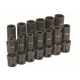 Grey Pneumatic 1313UMD 13-Piece 1/2 in. Drive Deep Length Metric Universal Socket Set