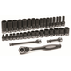 Grey Pneumatic 81635MRD 35-Piece 3/8 in. Drive Standard and Deep Length Metric Duo-Socket Set