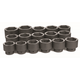 Grey Pneumatic 9016 16-Piece 1 in. Drive Standard Length Fractional Socket Set