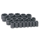 Grey Pneumatic 1319 19-Piece 1/2 in. Drive 6-Point SAE Master Standard Impact Socket Set